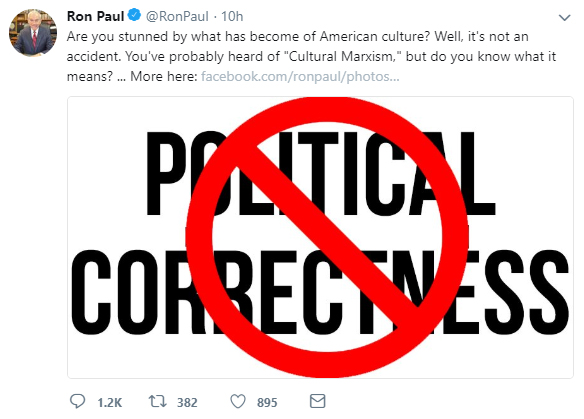 Ron Paul Political Correctness Tweet